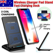 Wireless Charger Qi FAST Charge For iPhone XS XR X Note 8 S8 - PREMIUM Quality