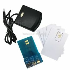 Secure Card Reader Writer Programmer 5pcs Blank Programmable Cards LTE 4G SIM