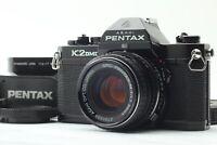 Rare! 【N.MINT+ Hood 】 Asahi Pentax K2 DMD Black SMC M 50mm f/1.7 From JAPAN 583