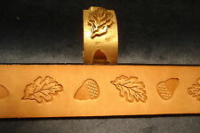 "Leather Embossing Machine Roll Acorn and Oak Leaf  Design  Solid Brass ""NEW"""