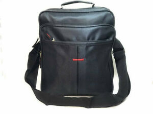 Black Cross Body Messenger Bag Canvas Utility Travel Work Ladies Mens