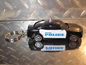 2018 Maisto Metro Police Law Enforcement Dodge Charger Custom Key Chain Go Blue