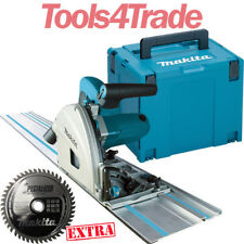 Makita SP6000J1 Plunge Cut Saw 165mm 240v + 1.4m Guide Rail + Case & 48T Blade