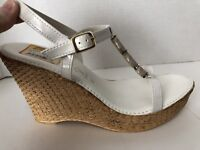 Italian Shoemakers Shoes Womens Size 11 M White Wedge Heels Open Toe 11M