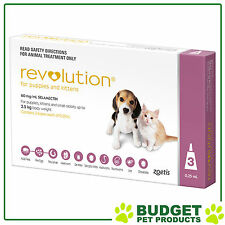 Revolution For Puppies and Kittens Up To 2.5kg Pink 3 Pack