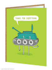 BrainBox Candy Gracioso humorístico 'tanques para todo Gracias Tarjeta Novedad Broma