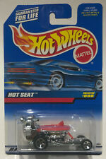 HOT WHEELS HOT SEAT #999 Red Lid and Steering w/ 5 Spoke Chrome Rims New 1998