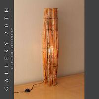 RARE! MID CENTURY MODERN BAMBOO TIKI FLOOR LAMP! VTG 50'S 60S ATOMIC LIGHT RETRO