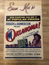 THEATRE STAGE PLAY MUSICAL OKLAHOMA RODGERS HAMMERSTEIN FRAMED PRINT B12X10544