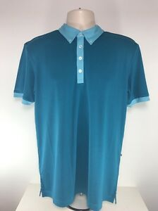 Ping Collection Gilden Heather Polo, Oriental Blue / Amalfi Blue, Size Med,BNWT