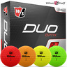 WILSON STAFF 2020 DUO OPTIX MATTE FINISH GOLF BALLS / ALL COLOURS / DOZEN PACKS
