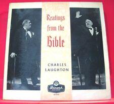 Charles Laughton Readings From The Bible LP UK ORIG 1960 Brunswick Noah+ VINYL