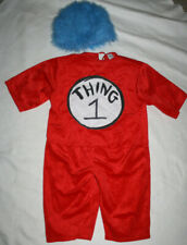 Boy Girl Dr. Seuss Thing One 1 Halloween Costume Size 4/6