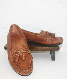 Johnston Murphy Tassel Kiltie Loafers Leather Moc Toe Moccasins Men's Size 11M
