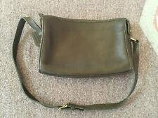 COACH Vintage Leather Shoulder Handbag Green No. J4C-9944