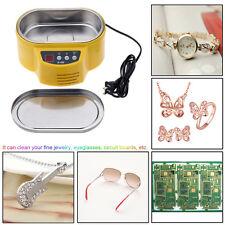 600ml Mini Ultrasonic Cleaner for Jewelry Glasses CD Lens Watch 220V LED Display