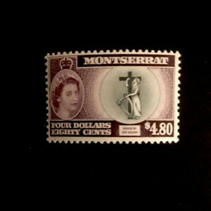 MONTSERRAT - SG149a MLH 1958 $4.80 BLACK & DEEP PURPLE - INSCR COLONY