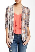 Lush Size Small Multi Color Drapey Jacket  Lightweight Open Front Shawl Collar