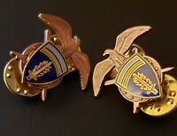 Quartermaster Officer Europe Berlin Collar Insignia Brass Lapel Pin US Army Lot