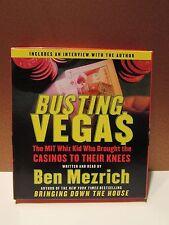 Busting Vegas - The MIT Whiz Kid - Ben Mezrich Audiobook CD FREE SHIPPING