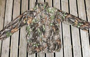 Fishing hunting jacket medium real tree camosport