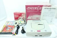 Sega Saturn Console  White HST-3220 tested working japan box