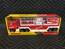 Vintage 1983 Coca Cola Buddy L Toy Mac Truck and Trailer with Coke Machine Crate