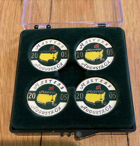 NEW!! 2005 MASTERS Ball Marker 4 Pack Tiger Woods Last Win AUGUSTA NATIONAL