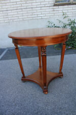 Antique Regency Style Walnut Round Center, Accent Table