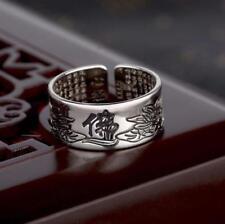 Ring Buddha Lotus Mantra Safe Life Opening High Jewelry Rings