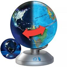 Discovery 2 in 1 Globe Light w/ Colored Led Population Centers Illumination B070
