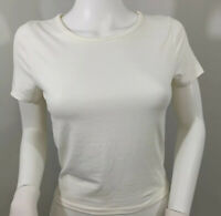 """""""Live In The Moment"""" Women's Top Small, Cream Color, Short, Soft"""