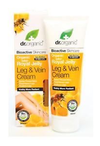 Dr Organic Eco Friendly Bio-Active Skincare Royal Jelly Leg & Vein Cream 200ml