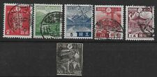 1937-46 Japan Lot of 6 Mixed Used Issues, Sc# 259|358, Nh, *F*