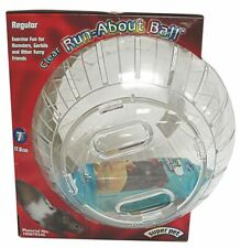 """New listing Super Pet Hamster Run About Ball For Small Animals 12.5"""" X 8"""" X 10"""" Clear"""