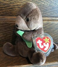 Seaweed Otter 1996 - Ty Beanie Baby Retired Rare Mint Condition Tags Mwmt