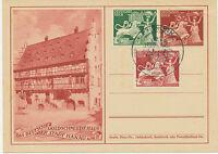 DT.REICH 1942 Sonderpostkarte 10 Jahr Goldschmiedekunst MAXIMUMKARTE SST MÜNCHEN