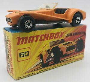 Matchbox Lesney Superfast #60 Lotus Super Seven, 1971 Vintage