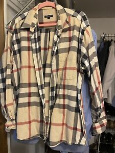 authentic Burberry men's button down shirt XL from the 90's