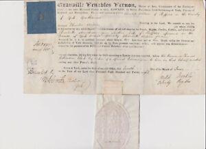 2124 Ephemera 1828 Archbishop of York intestate document