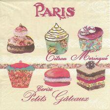 Lot de 4 Serviettes en papier Maître Patissier Paris Decoupage Collage Decopatch