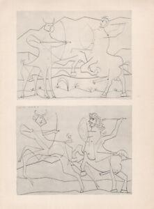 PABLO PICASSO - Scorer * VERY RARE art print VERVE 1948 * draeger freres