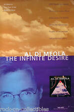 AL DI MEOLA 1998 THE INFINITE DESIRE PROMO POSTER ORIGINAL