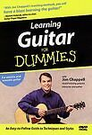 LEARNING GUITAR FOR DUMMIES DVD (Electric/ Acoustic w/ Jon Chappell) NEW SEALED