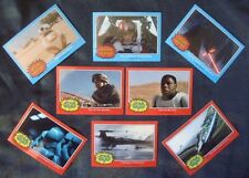 2015 Topps *STAR WARS The Force Awakens* Full Glossy CHROME Promo Set/8 REY BB-8