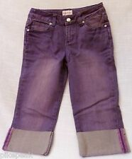 Jeans American Girl Purple Capris size 10 Stone Washed everyday Cotton / Spandex
