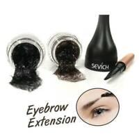 Eyebrow Hair Extensions/ Fiber Building Unisex Waterproof 3D Black Dark Brown @