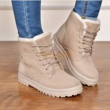 Women Winter Fur Lined Warm High Top Shoes Casual Snow Ankle Boots Size UK 2.5-8