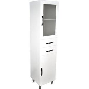 Bathroom 1800 Tallboy unit, 1/2 Glass Door # F48-G