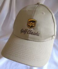 UPS Golf Classic Tan Beige Baseball Cap Hat
